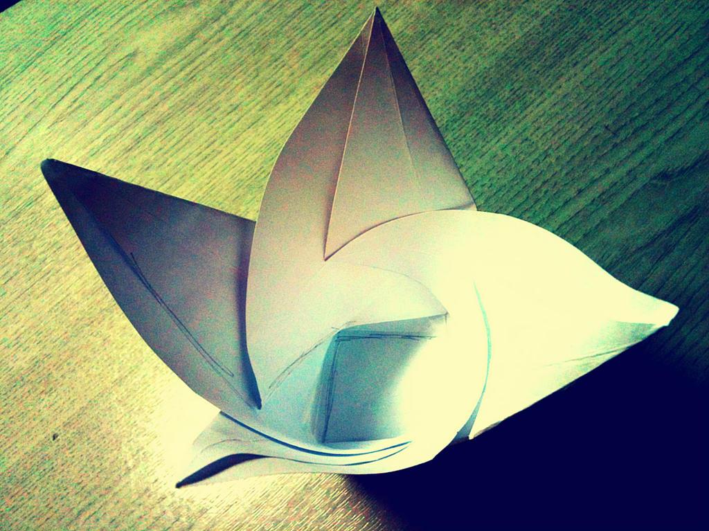 origami floral pot by catushi on deviantart. Black Bedroom Furniture Sets. Home Design Ideas