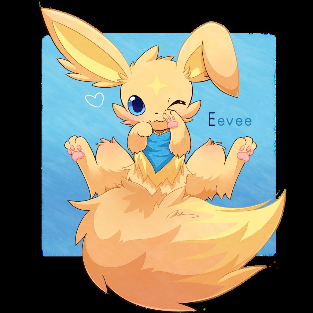 Eevee - PuppyFlora by Naru-pika