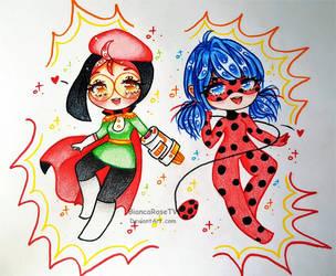 Miraculous Girls: Emara x Ladybug by BiancaRoseTV