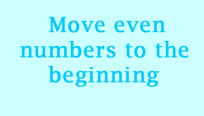 move even numbers in linked list