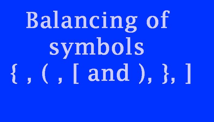 balancing of symbols