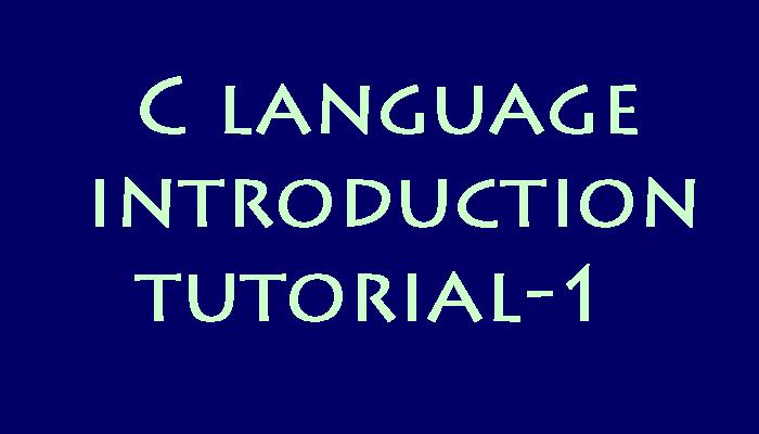 title - C language tutorial 1