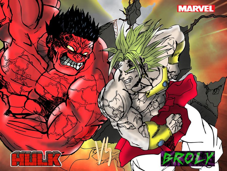 hulk vs broly by jerome13001 on deviantart