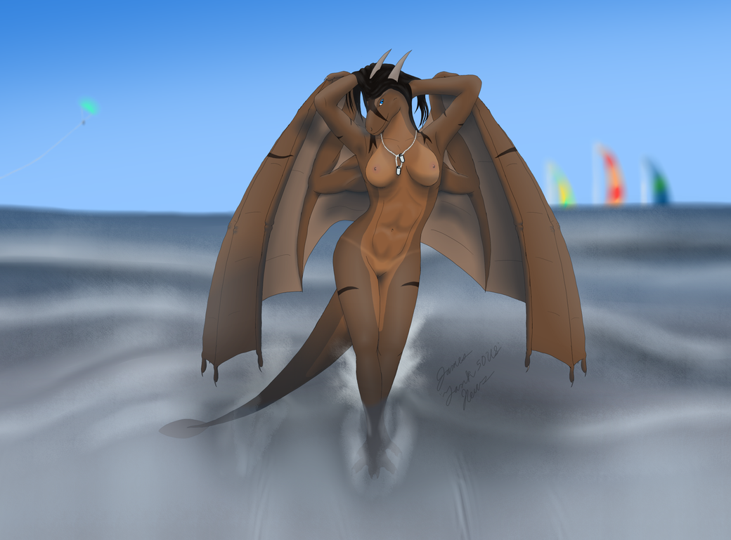 Amy Myers Beach Dragon (nude) by Tank50us