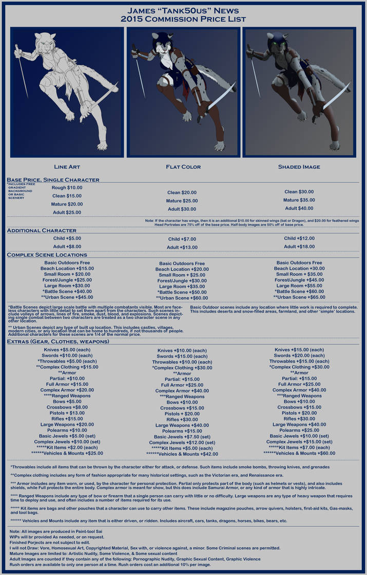 2015 Price List