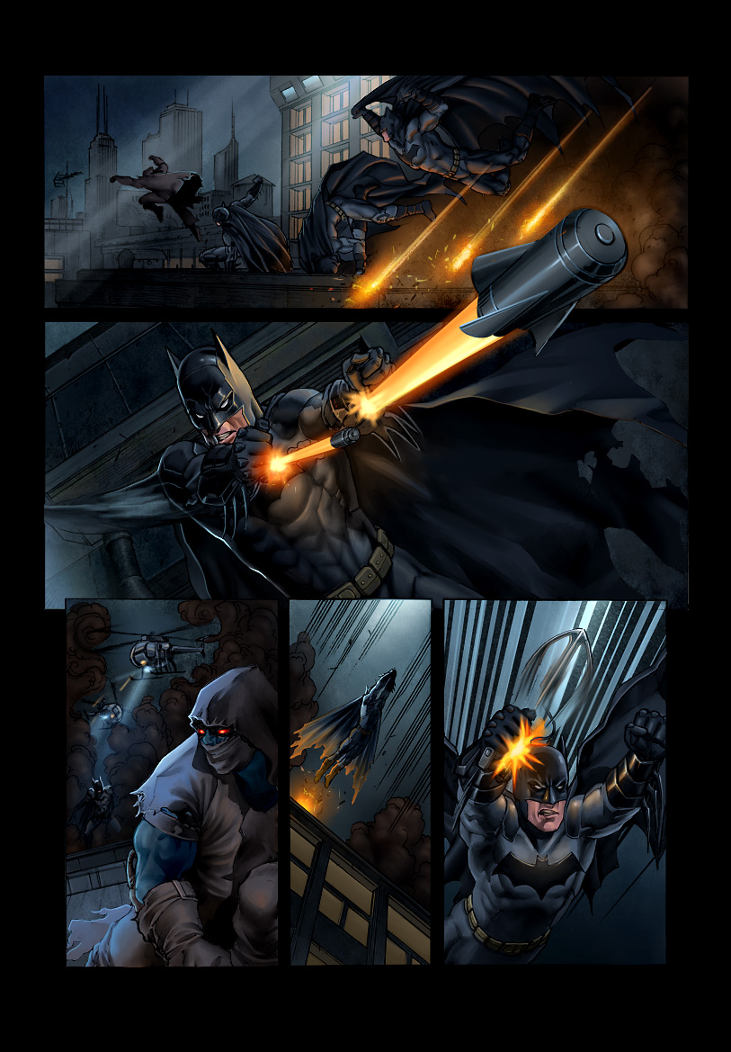 Batman DC Test Page Colour by solus-somniant