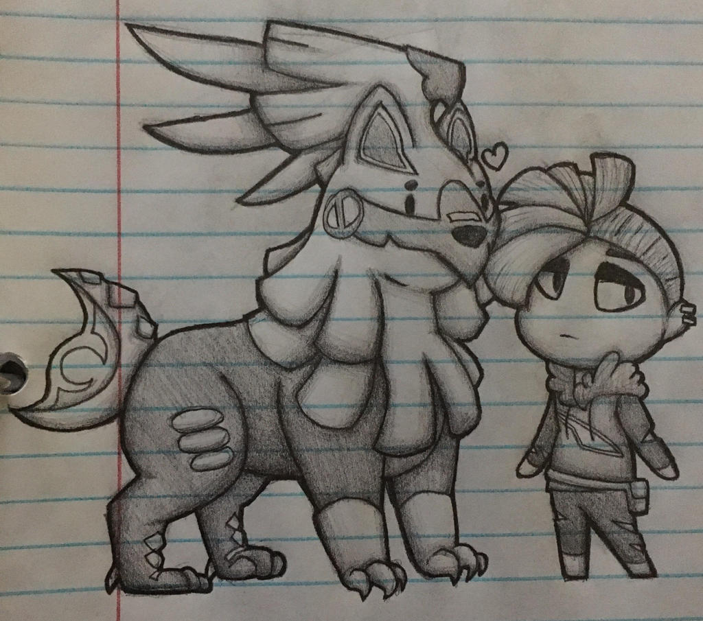 french fry hair and umbreon the unicorn by PastelGlaze