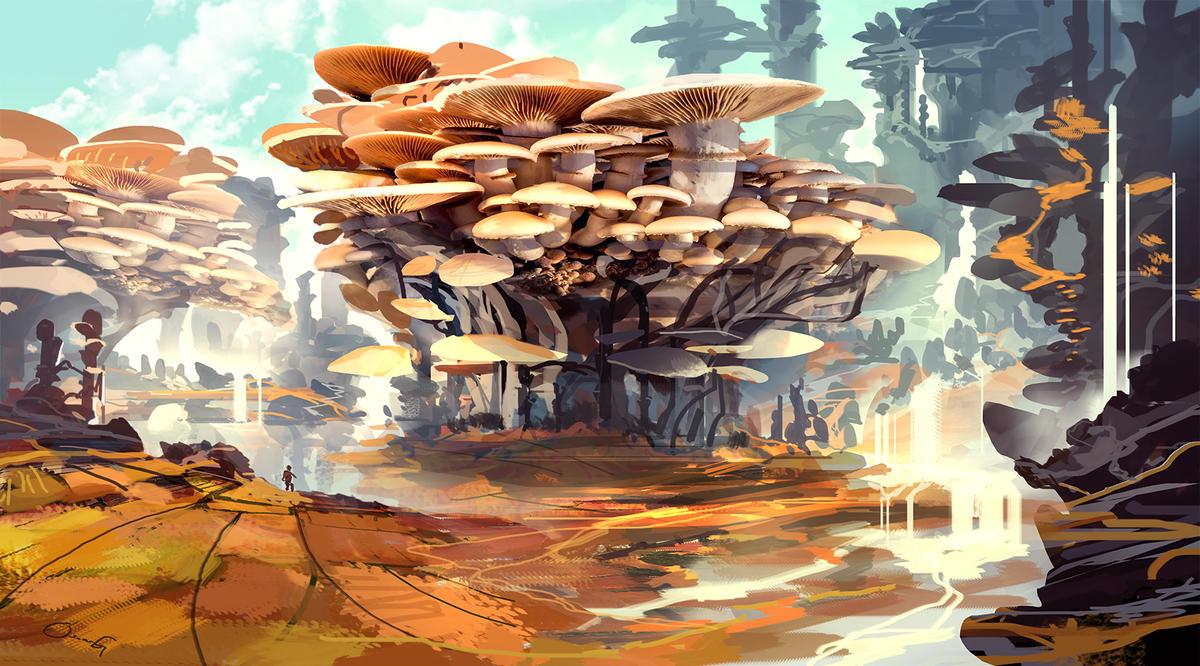 Mushroom Paradise by ProjectOsxar