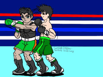 B-day punchout:Raven vs Little Mac by ravenf6