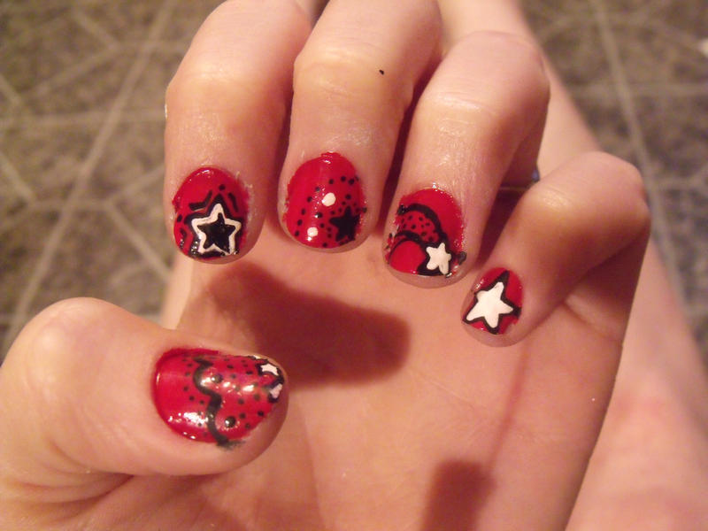 31 day nail art challenge day 1 - red nails by kawaii-panic on ...