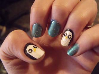 Adventure Time Gunter Nails by kawaii-panic