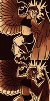 Inktober OC Monsters Day 6 - Harpy