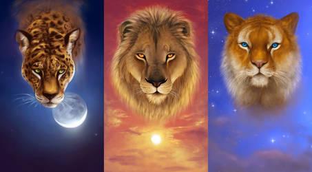 Feline trio by light-askha