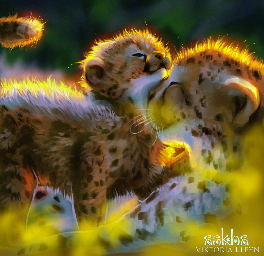Cheetah Family by light-askha
