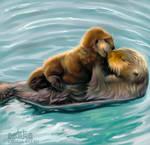 Otter Family by light-askha