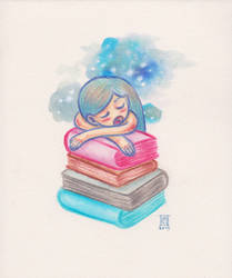 Too many books, not enough sleep by Cameron-Brideoake