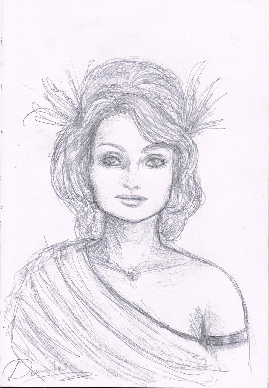 demeter greek goddess drawing - photo #1