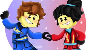 Jaya - (Jay and Nya from LEGO Ninjago)