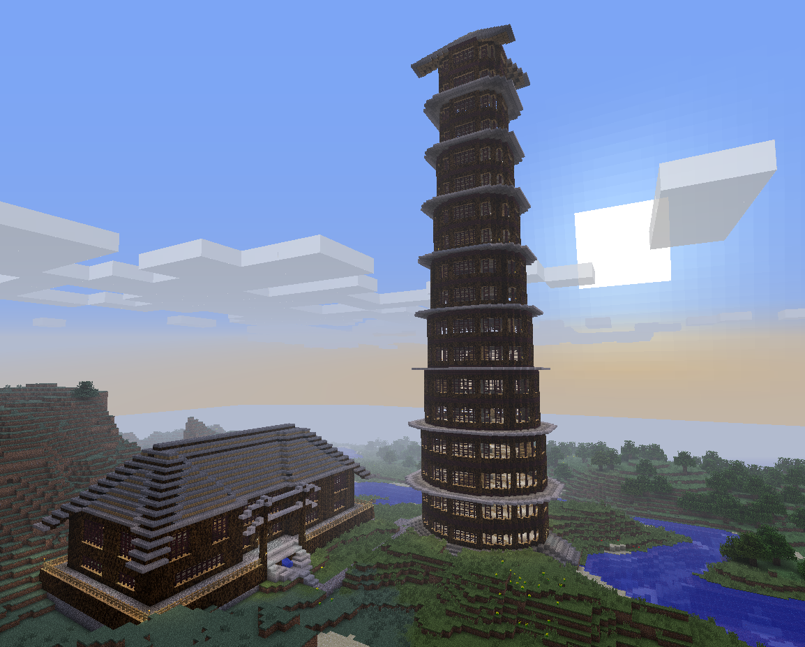 Minecraft Tower House Design