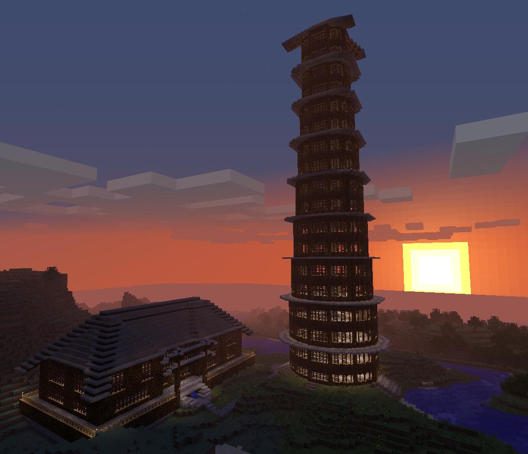 Minecraft Castle And Tower 02 By Spectraldraconicwolf On Deviantart