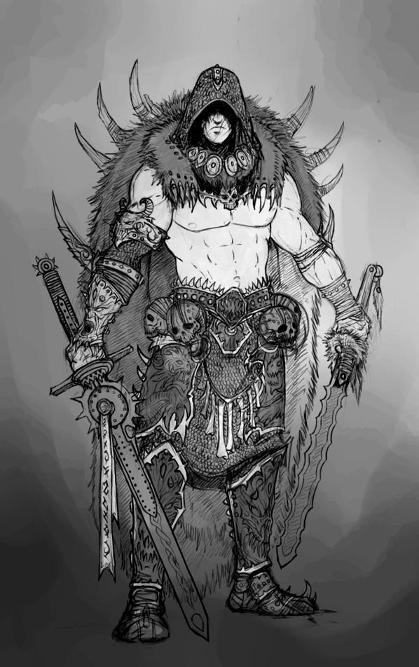 Barbarian Concept 2 by AlexBoca