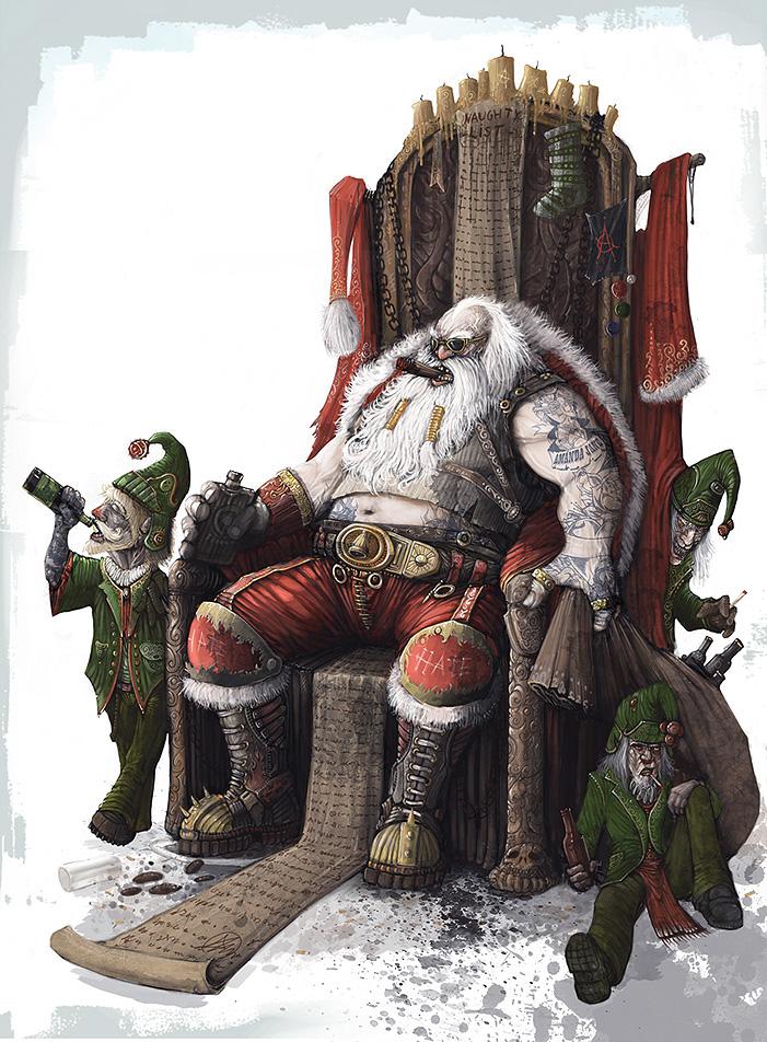 Bad ass Santa by AlexBoca