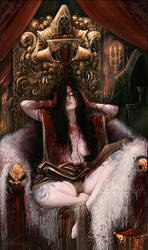 Queen on her blood throne by AlexBoca