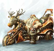 Bad ass santa II by AlexBoca