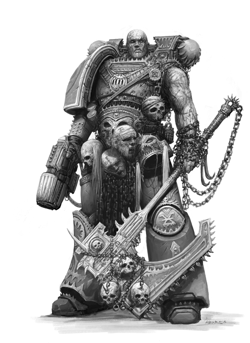 [W40K] Collection d'images : Space Marines du Chaos - Page 3 Kharn_the_betrayer_by_alexboca-d792nt5