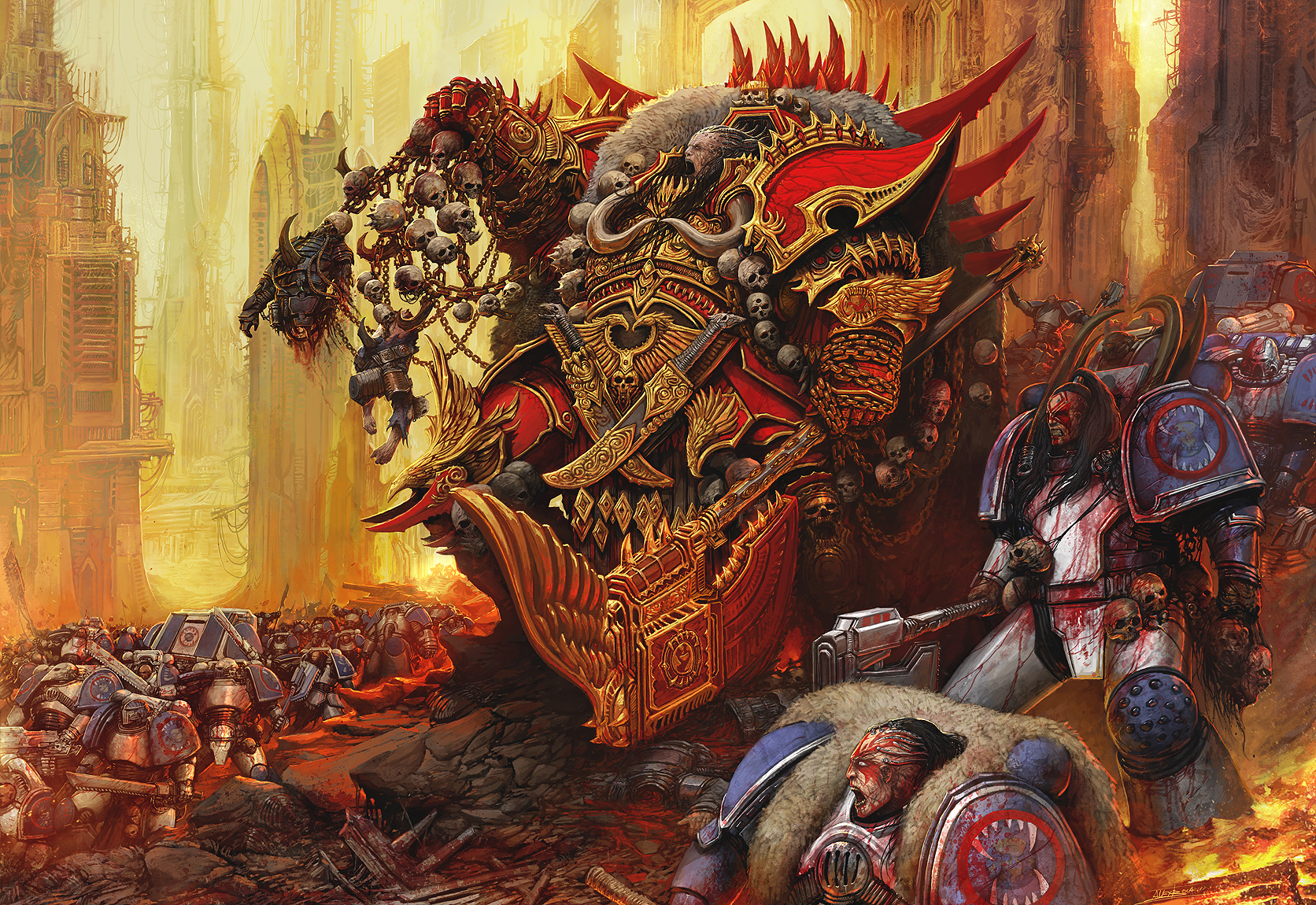 [W30K] Legiones Astartes XII : World Eaters - Page 2 Angron_by_alexboca-d7930i6