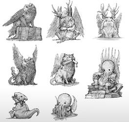 Minions miniature concepts by AlexBoca