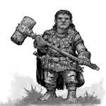Hobbit Warrior concept - 2h hammer