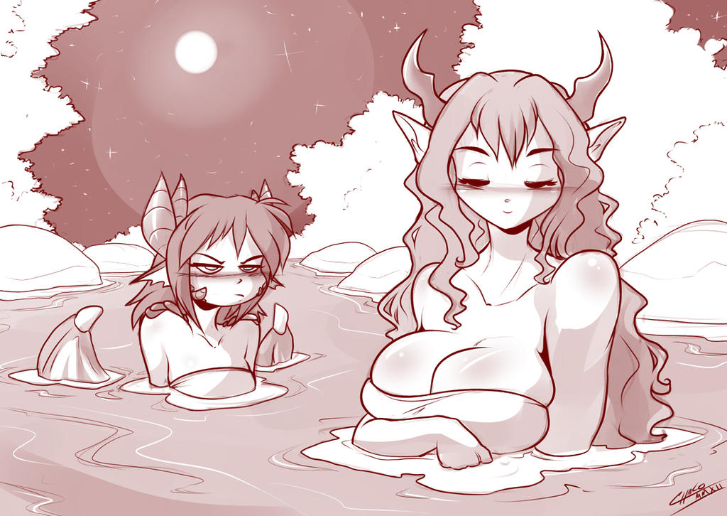 Hotspring Girls by ChaloDillo