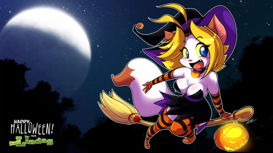 Sarah Halloween Wallpaper 2012 by ChaloDillo
