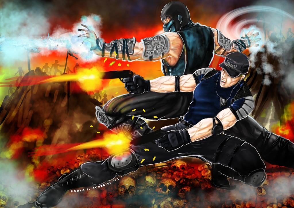 Stryker-Sub Zero.. Battle on Netherrealm by Grapiqkad