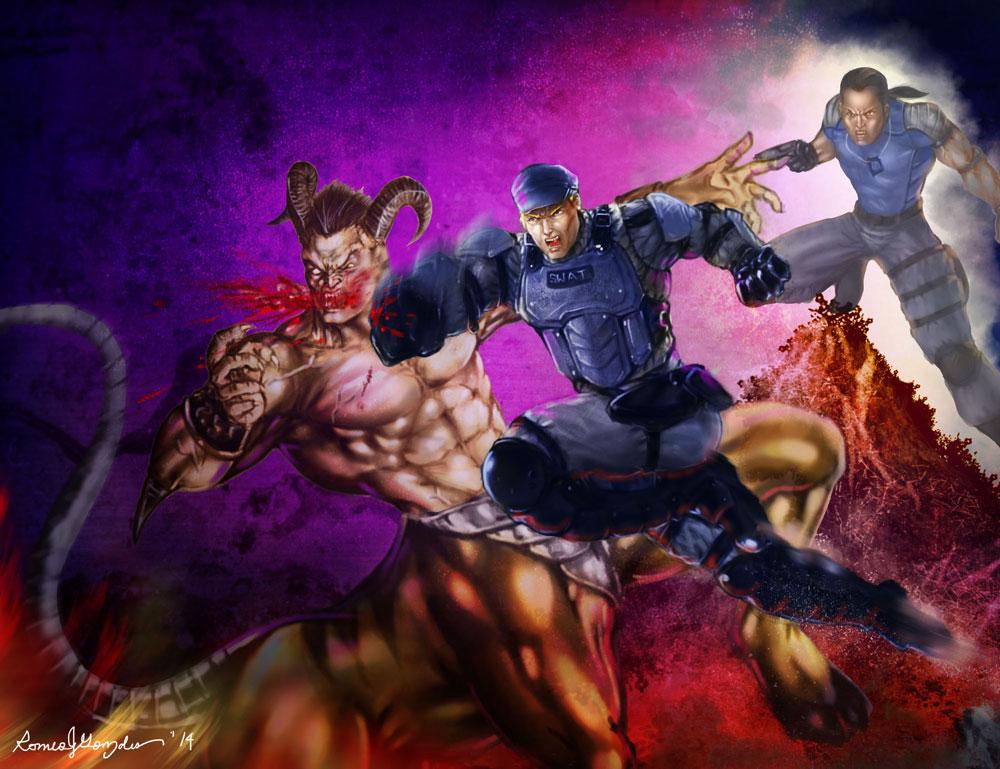 Mortal Kombat Stryker, MK9 human Kabal vs Motaro by ...