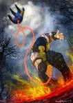 Mortal Kombat x Scorpio VS Sub Zero