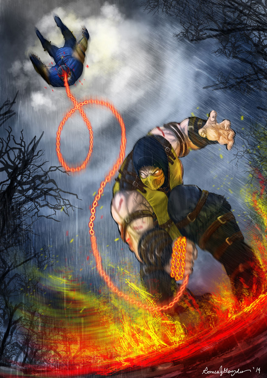 Mortal Kombat X Scorpio Vs Sub Zero By Grapiqkad On Deviantart