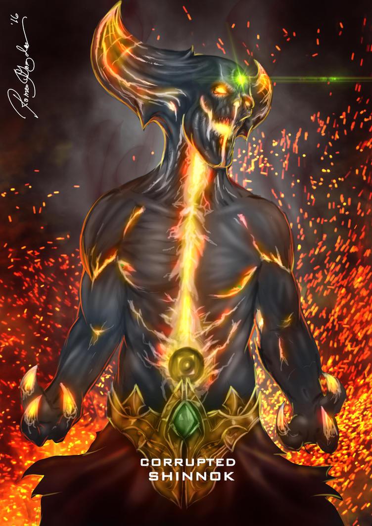 mortal kombat x corrupted shinnok by grapiqkad on deviantart