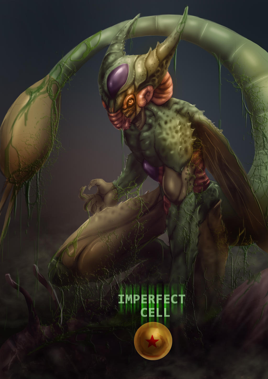DRAGON BALL Z Cell Imperfect form v.2 by Grapiqkad on DeviantArt