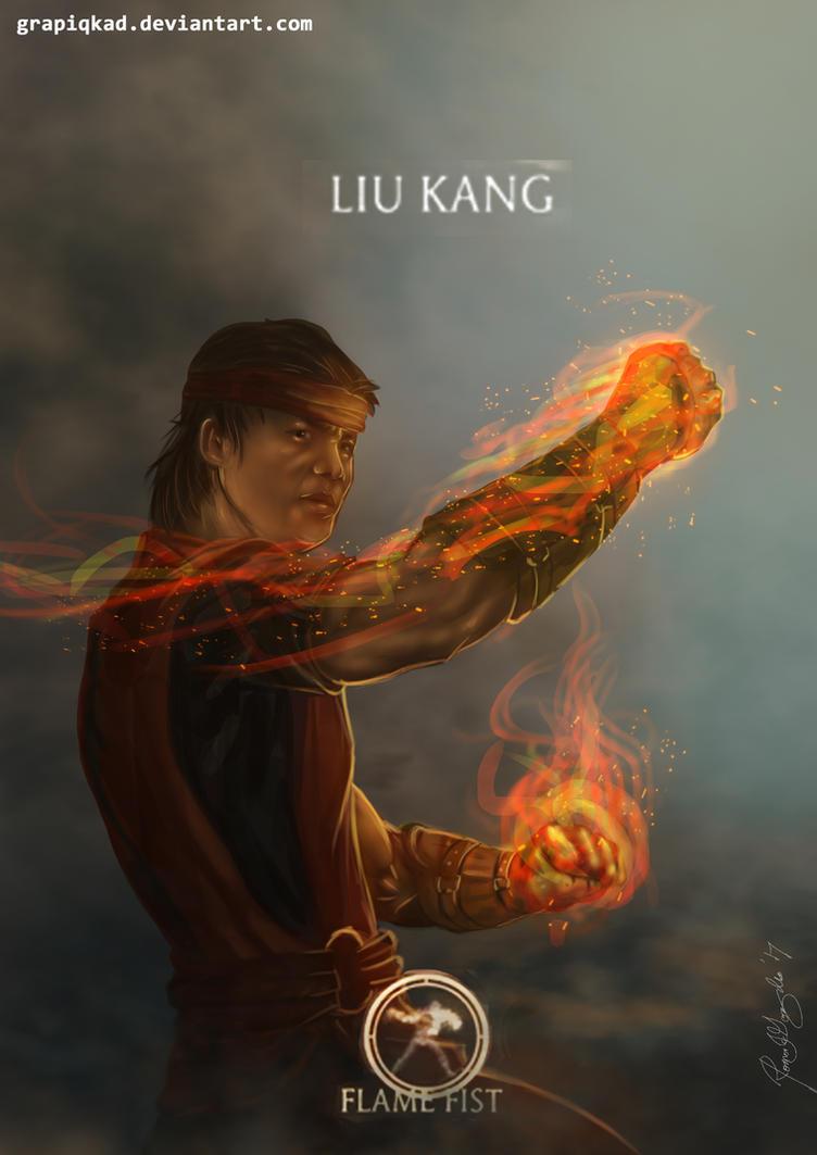 Mortal Kombat X-Liu Kang Flame Fist Variation by Grapiqkad