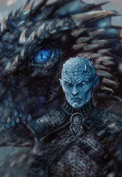 Night King and the Ice dragon2
