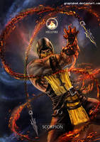 Mortal Kombat X- Scorpion Hellfire Variation by Grapiqkad