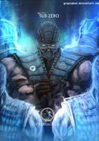 Mortal Kombat X- Sub Zero Grandmaster Variation by Grapiqkad