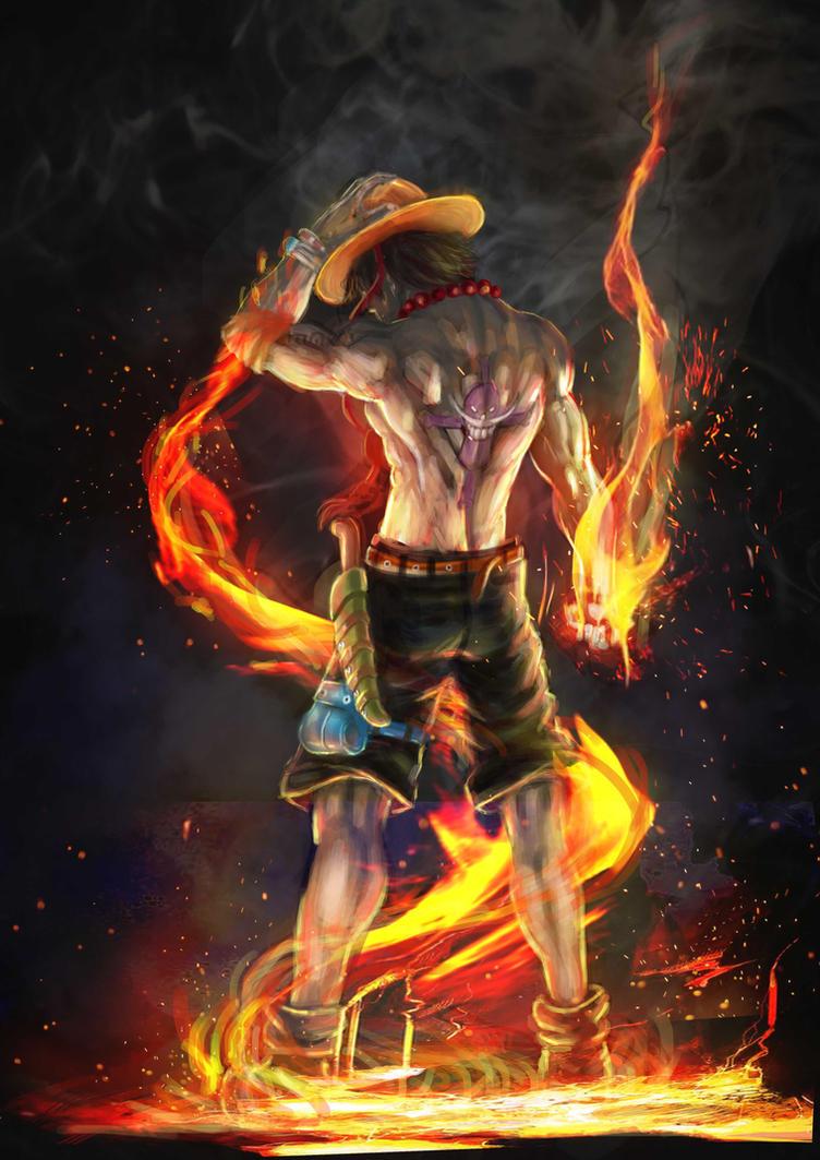 Fire Fist Ace by Grapiqkad
