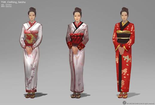 TSW CLOTHING GEISHA sketches