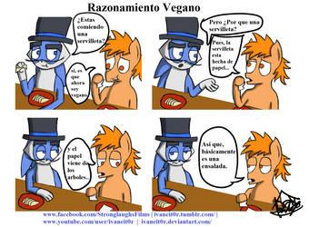 Zarpas El Conejo Shido Comic 4: Razonamiento Vegan by ivaneit0r