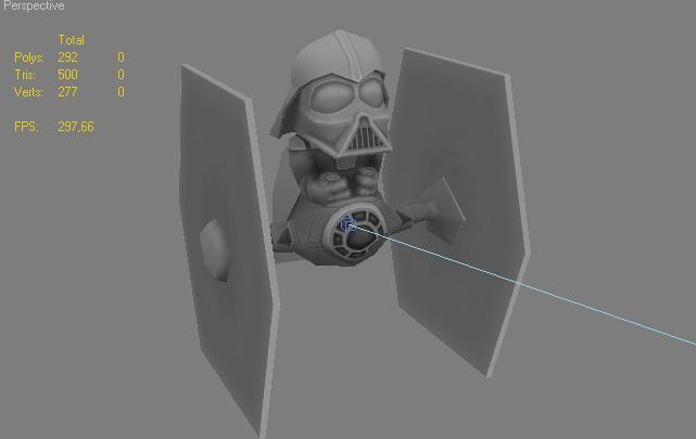 Darth Vader bighead - WiP by Ng-Aniki