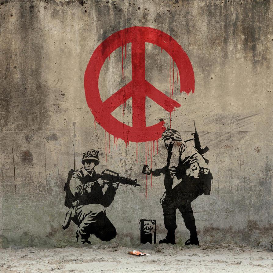 Banksy - Peace by Ng-Aniki