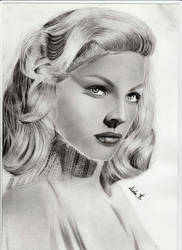 Lauren Bacall Pencil Drawing